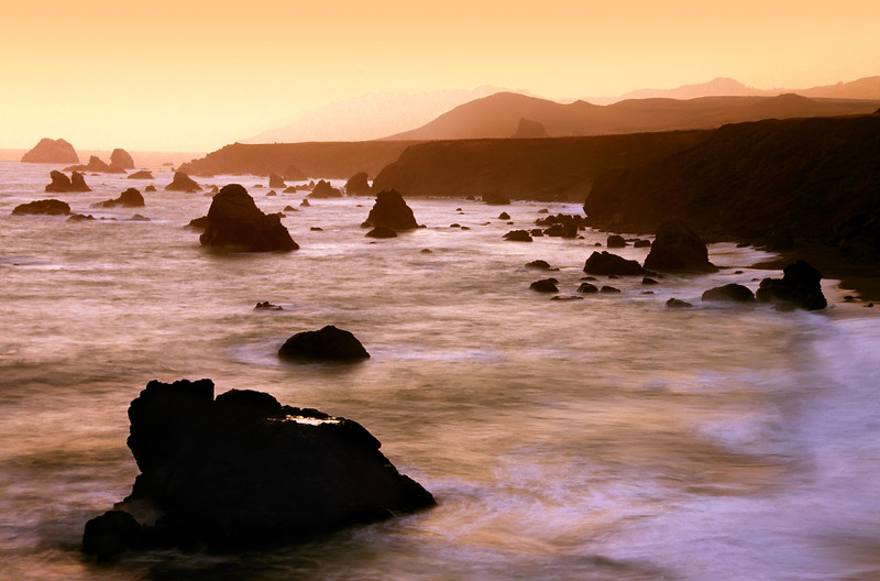"The Rugged Coast<br /> Near Jenner, California<br /> By Brett Downen<br /> <br /> Float Mounted MetalPrint<br /> Available sizes: 4"" x 6"", 8"" x 12"", 16"" x 24"". 24"" x 36"""