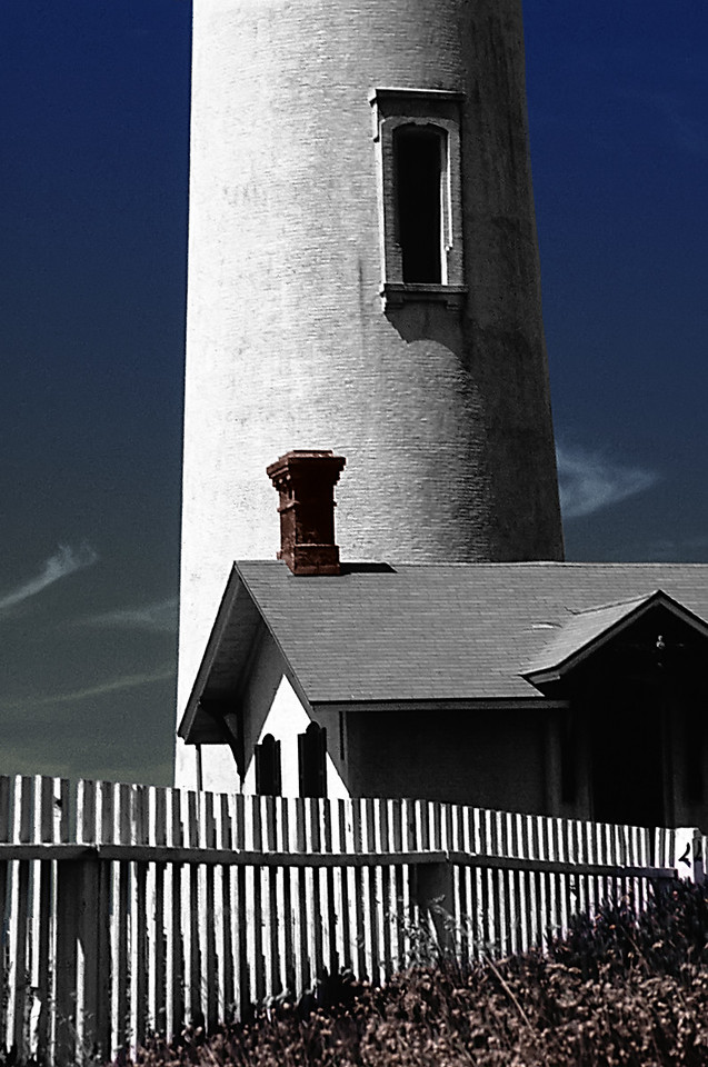 "Pigeon Point Elements<br /> Pigeon Point Lighthouse, Pescadero, California<br /> By Brett Downen<br /> <br /> Float Mounted MetalPrint<br /> Available sizes: 4"" x 6"", 8"" x 12"", 16"" x 24"". 24"" x 36"""