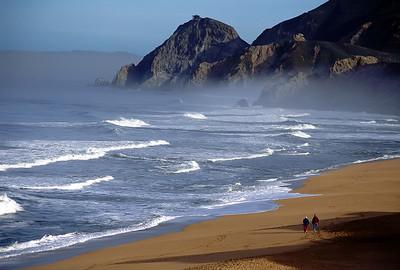 "Montara Dawn Montara State Beach, California By Brett Downen  Float Mounted MetalPrint Available sizes: 4"" x 6"", 8"" x 12"", 16"" x 24"". 24"" x 36"""