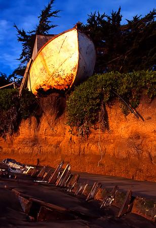 "Boat Wrecks Princeton by the Sea, California By Brett Downen  Float Mounted MetalPrint Available sizes: 4"" x 6"", 8"" x 12"", 16"" x 24"". 24"" x 36"""