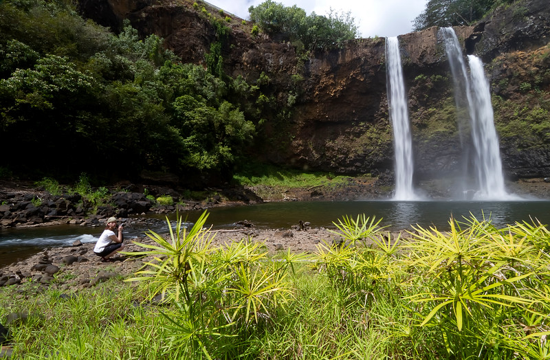 "Capturing Beauty<br /> Wailua Falls, Kauai, Hawaii<br /> By Brett Downen<br /> <br /> Float Mounted MetalPrint<br /> Available sizes: 4"" x 6"", 8"" x 12"", 16"" x 24"". 24"" x 36"""