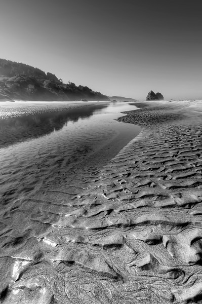 """Cannon Beach and the new inlet.<br /> Cannon Beach, Oregon<br /> Summer, 2011<br /> By Brett Downen<br /> <br /> Float Mounted MetalPrint<br /> Available sizes: 4"""" x 6"""", 8"""" x 12"""", 16"""" x 24"""". 24"""" x 36"""""""
