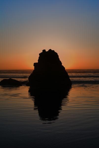 "Mini-monolith<br /> Cannon Beach, Oregon<br /> By Brett Downen<br /> <br /> Float Mounted MetalPrint<br /> Available sizes: 4"" x 6"", 8"" x 12"", 16"" x 24"". 24"" x 36"""