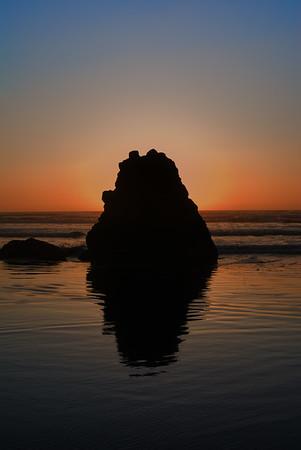 "Mini-monolith Cannon Beach, Oregon By Brett Downen  Float Mounted MetalPrint Available sizes: 4"" x 6"", 8"" x 12"", 16"" x 24"". 24"" x 36"""