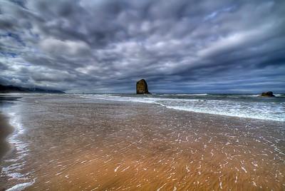 "The Fingertip Monolith Cannon Beach, Oregon By Brett Downen  Float Mounted MetalPrint Available sizes: 4"" x 6"", 8"" x 12"", 16"" x 24"". 24"" x 36"""