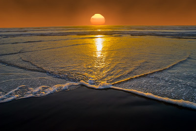 """Currents in the Sunset Cannon Beach, Oregon By Brett Downen  Float Mounted MetalPrint Available sizes: 4"""" x 6"""", 8"""" x 12"""", 16"""" x 24"""". 24"""" x 36"""""""