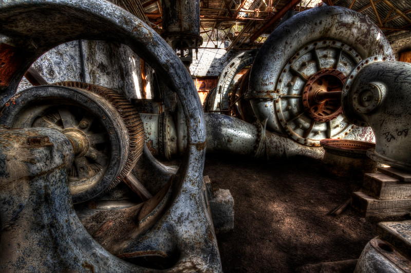 Abandoned Turbine below White River Falls, Oregon