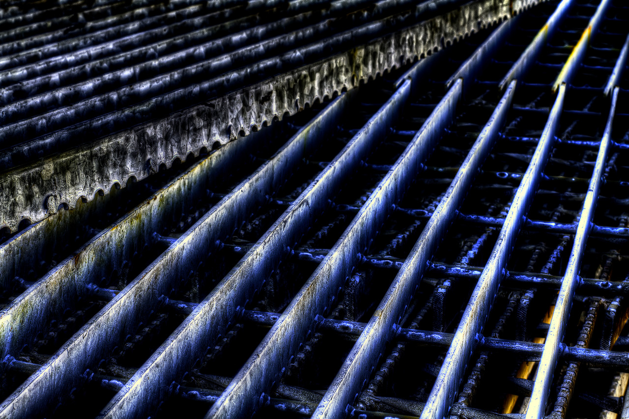 "A Ton of Grating. Treated rough with a little HDR.<br /> By Brett Downen<br /> <br /> Float Mounted MetalPrint<br /> Available sizes: 4"" x 6"", 8"" x 12"", 16"" x 24"". 24"" x 36"""