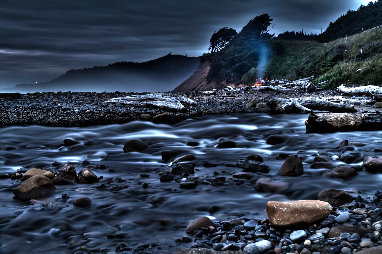"""After Hours<br /> Beverly Beach, Oregon<br /> By Brett Downen<br /> <br /> Float Mounted MetalPrint<br /> Available sizes: 4"""" x 6"""", 8"""" x 12"""", 16"""" x 24"""". 24"""" x 36"""""""