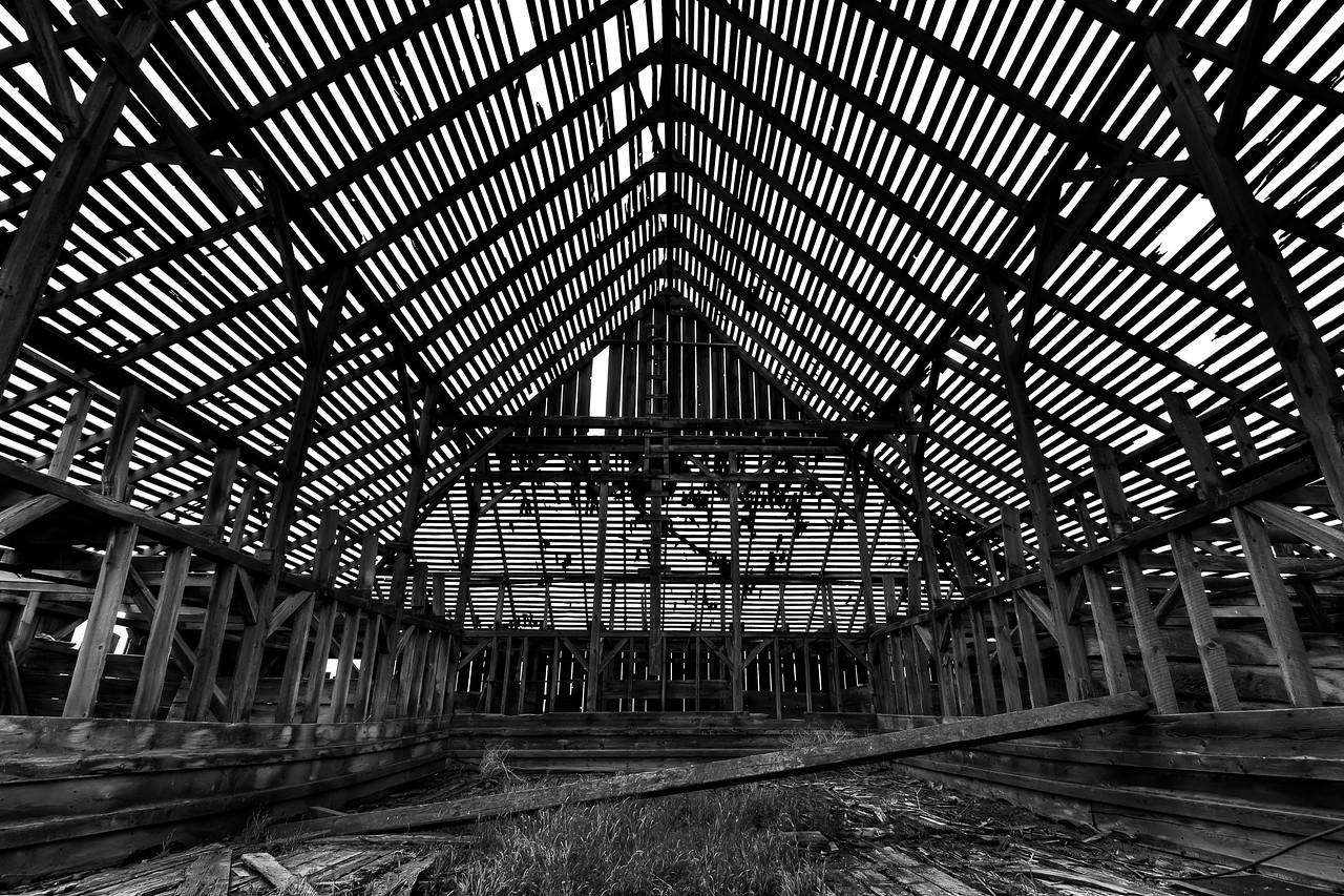 Skeleton in the Barn<br /> near Dufur, Oregon<br /> <br /> by Brett Downen
