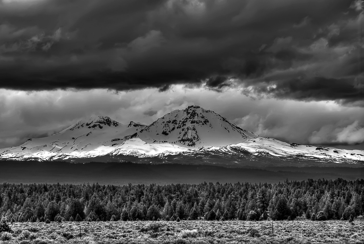 """The Sisters Range<br /> Oregon<br /> By Brett Downen<br /> <br /> Float Mounted MetalPrint<br /> Available sizes: 4"""" x 6"""", 8"""" x 12"""", 16"""" x 24"""". 24"""" x 36"""""""