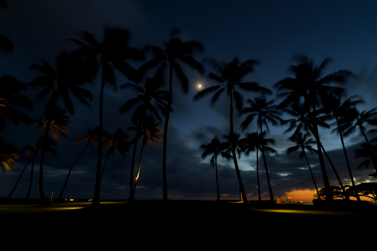 "Kiahuna Plantation Post-Sunset<br /> Poipu Beach, Kauai<br /> By Brett Downen<br /> <br /> Float Mounted MetalPrint<br /> Available sizes: 4"" x 6"", 8"" x 12"", 16"" x 24"". 24"" x 36"""