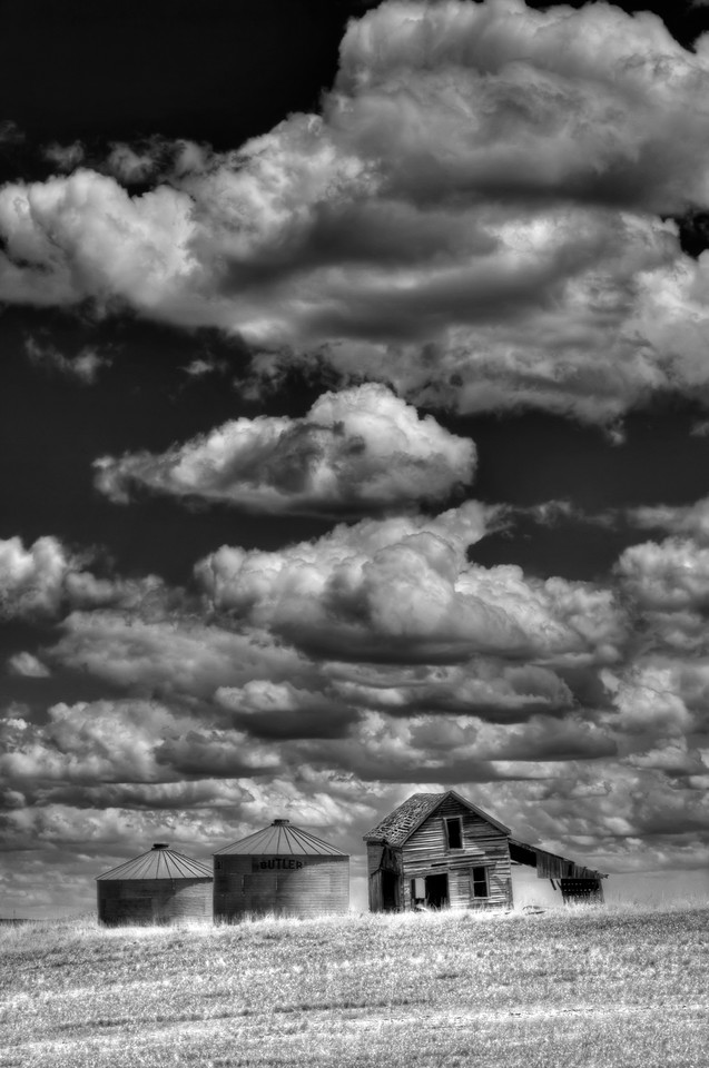 "The Last House<br /> Friend, Oregon<br /> By Brett Downen<br /> <br /> Float Mounted MetalPrint<br /> Available sizes: 4"" x 6"", 8"" x 12"", 16"" x 24"". 24"" x 36"""