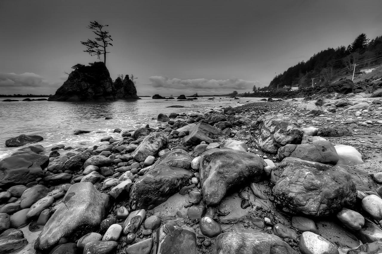 "The Third Grace<br /> Garibaldi Coastline, Black & White<br /> By Brett Downen<br /> <br /> Float Mounted MetalPrint<br /> Available sizes: 4"" x 6"", 8"" x 12"", 16"" x 24"". 24"" x 36"""