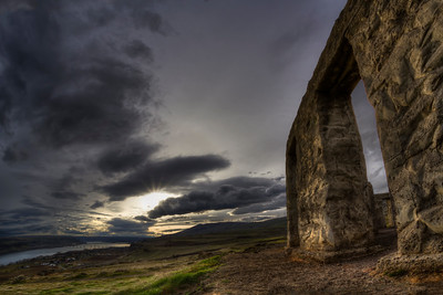 Stonehenge War Memorial near Marysville, Washington  by Brett Downen