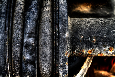 "Worn Gaskets  By Brett Downen  Float Mounted MetalPrint Available sizes: 4"" x 6"", 8"" x 12"", 16"" x 24"". 24"" x 36"""