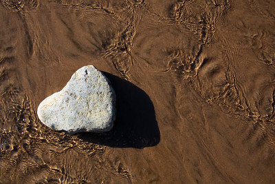 Heart of Stone Found on the beach at Oswald West State Park  by Brett Downen