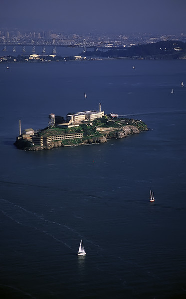 "Alcatraz Aerial View<br /> San Francisco, California<br /> By Brett Downen<br /> <br /> Float Mounted MetalPrint<br /> Available sizes: 4"" x 6"", 8"" x 12"", 16"" x 24"". 24"" x 36"""