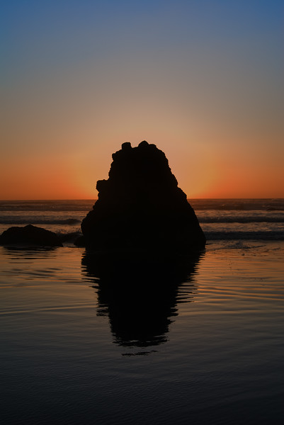 "Mini-monolith<br /> Cannon Beach, Oregon<br /> By Brett Downen<br /> <br /> Float Mounted MetalPrint<br /> Available sizes: 4"" x 6"", 8"" x 12"", 16"" x 24"". 24"" x 36"""
