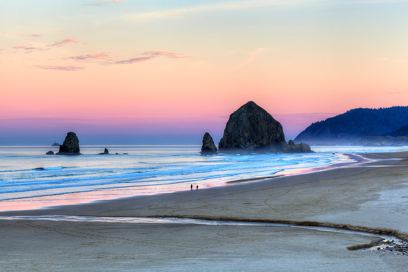 Haystack Rock on a perfect morning