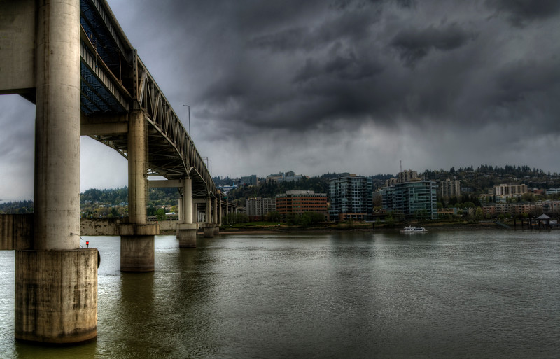 "Marquam Bridge<br /> By Brett Downen<br /> <br /> Float Mounted MetalPrint<br /> Available sizes: 4"" x 6"", 8"" x 12"", 16"" x 24"". 24"" x 36"""
