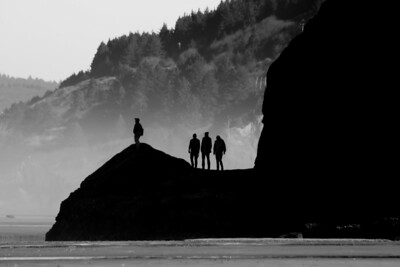 The Band at the Beach  by Brett Downen