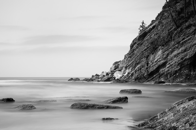 North End<br /> Short Sands (Oswald State Park)<br /> Oregon<br /> By Beverly Downen<br /> <br /> I have dreamed of taking long exposures at this beach. I absolutely love how a long exposure completely softens Oregon's famously rugged coastline.<br /> <br /> Canon 5D Mark II<br /> 28-135mm lens<br /> f22 at 30 second exposure<br /> Big Lee Stopper