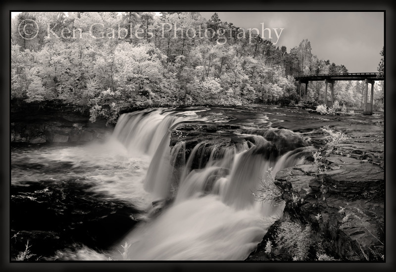 Little River Falls, Little River Canyon National Preserve, Little River, infrared, waterfall