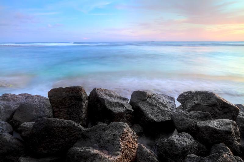 """Pastel Kauai<br /> Poipu Point, Poipu Beach, Kauai<br /> By Brett Downen<br /> <br /> Float Mounted MetalPrint<br /> Available sizes: 4"""" x 6"""", 8"""" x 12"""", 16"""" x 24"""". 24"""" x 36"""""""