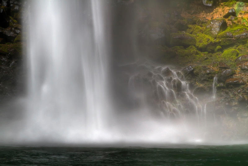 "The Falls Behind the Falls<br /> Wailua Falls<br /> Kauai, Hawaii<br /> By Brett Downen<br /> <br /> Float Mounted MetalPrint<br /> Available sizes: 4"" x 6"", 8"" x 12"", 16"" x 24"". 24"" x 36"""