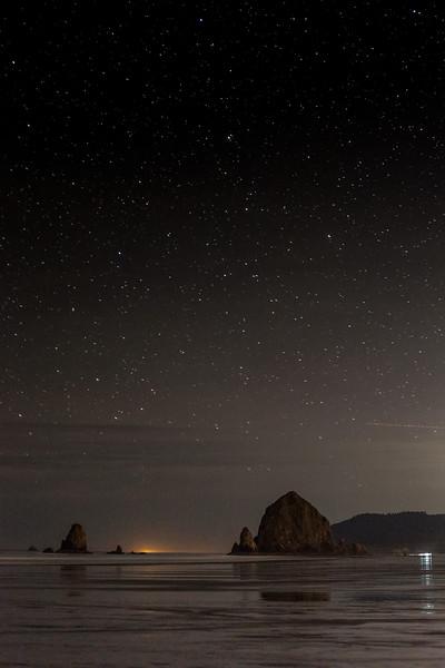 Haystack by Night