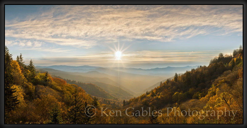 Oconoluftee Overlook, Great Smoky Mountain National Park, North Carolina