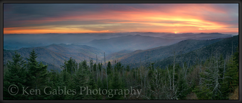 Clingman's Dome Sunset, Great Smoky Mountain National Park, Tennessee