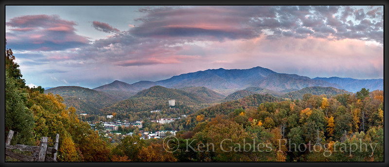 Galinburg from the Bypass, Great Smoky Mountain National Park, Tennessee