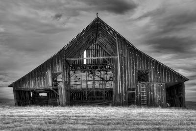 The Sturdy Forgotten Barn Near Dufur Oregon  by Brett Downen