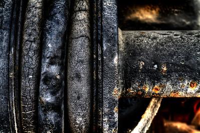 "Worn Gaskets  By Brett Downen  Float Mounted MetalPrint Available sizes: 4"" x 6"", 8"" x 12"", 16"" x 24"". 24"" x 36"""