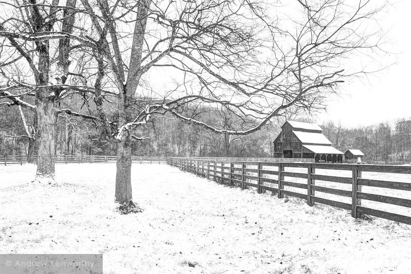 Rutledge Falls Barn TN 1 BW