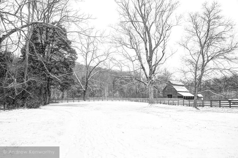 Rutledge Falls Barn TN 2 BW