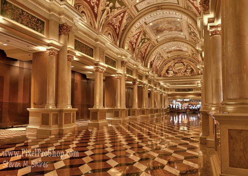 Venetian entrance area - Entrance to casinos.