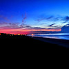 Watching the sun come up over Cocoa Beach, Florida.