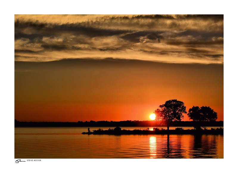 Lake Pat Cleburne Sunset - just outside of Fort Worth, Texas