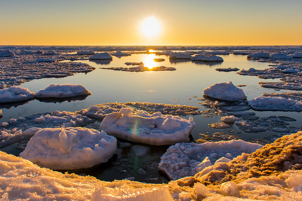 Fire and Ice - Lake Michigan