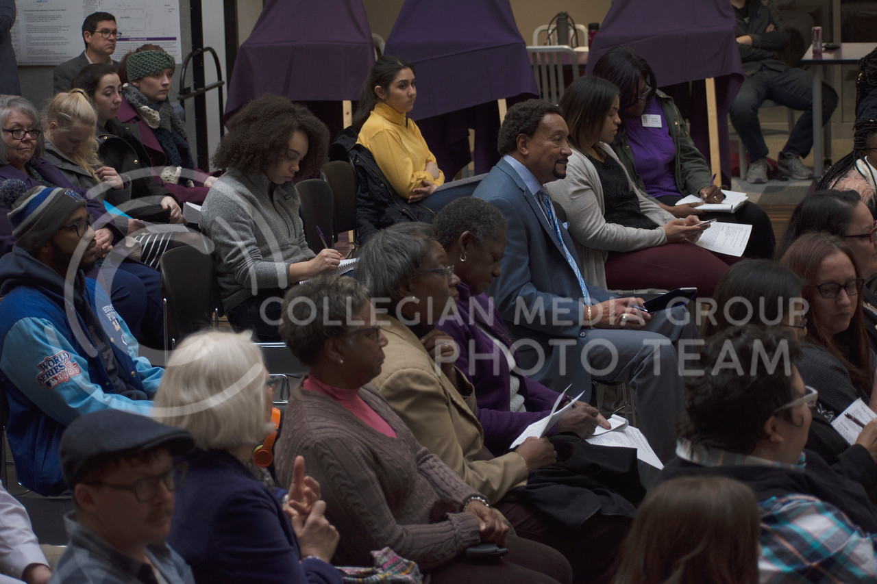The audience at the Fourth Annual Civil Rights Tech-In during K-State's MLK Week 2018 at the Union on January 24, 2018 (Saya Kakim | Collegian Media Group)