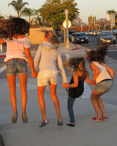 Girls just want to have fun! Heading off to the studio after visiting Paz Gallery!<br /> Their skin is glowing for the setting sun!