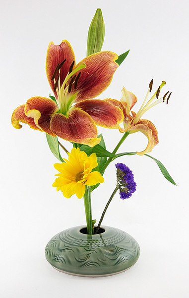 Ikebana Vase With Flowers