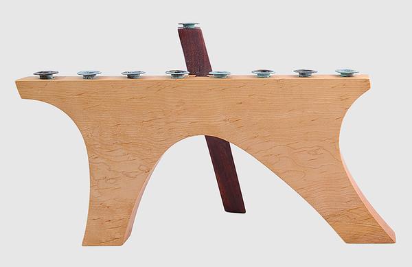 Carved Wood Menorah