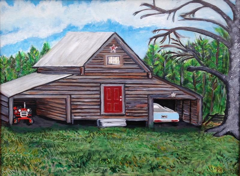 Oil on Canvas, 16x20<br /> Baxley Farm, Brittons Neck, SC