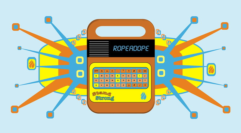 RAD-Speak and Spell<br /> Retro Icon of the 70s, with a post modern expressionism style
