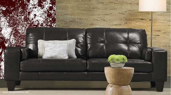 sofa brown 114 stone