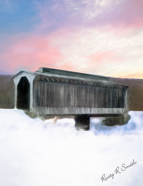 Fisher covered bridge,wolcott Vermont